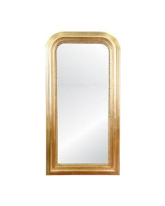 Worlds Away Waverly Hand Carved Gold Leaf Curved Top Rectangular Floor Mirror  - PREORDER FOR FEB 2021 DELIVERY
