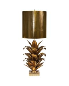 Worlds Away Arianna Palm Leaf Table Lamp in Gold Leaf