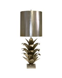 Worlds Away Arianna Palm Leaf Table Lamp in Silver Leaf - LOW STOCK