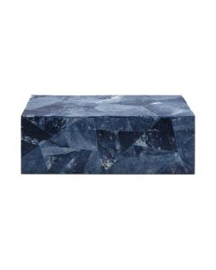 Worlds Away Hand Crafted Kenmore Decorative Box in Blue