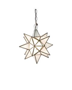 Worlds Away Large Frosted Glass Star Chandelier