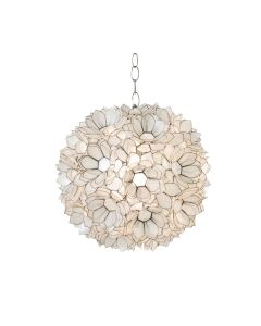 Worlds Away Venus Capiz Shell Lotus Pendant Flower Chandelier