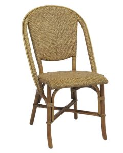 Woven Rattan Bistro Chair - Available in Two Colors
