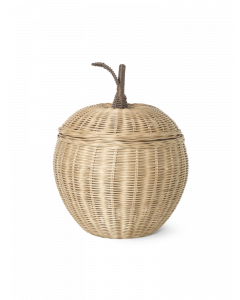 Woven Rattan Natural Apple Storage Box for Kids