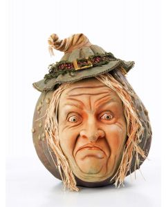 Wych Hazel Wormwood Pumpkin Face Decoration