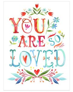 'You Are So Loved' Multicolor Canvas Wall Art for Kids