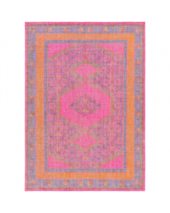 Zahra Rug in Fuchsia, Camel, Green, Orange and Eggplant - Available in a Variety of Sizes