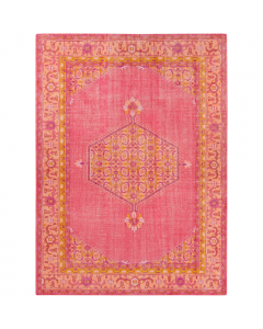 Zahra Rug in Pink, Coral, Saffron, Terracotta and Purple - Available in a Variety of Sizes